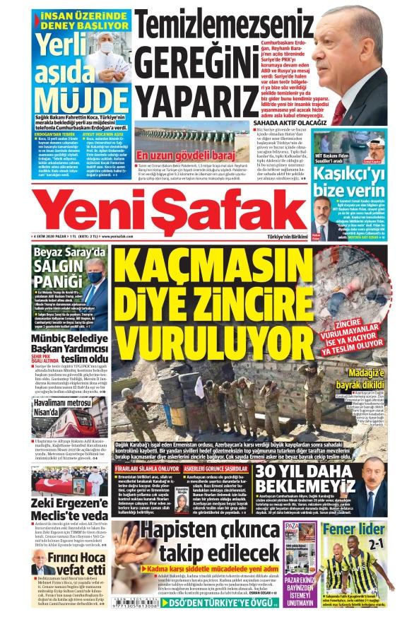 Günün Gazete Manşetleri (4 Ekim 2020) 1