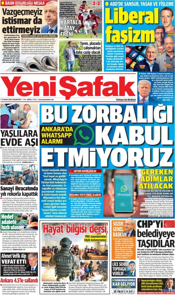 Günün Gazete Manşetleri 11 Ocak 2021 Gazeteler Ne Diyor? 1