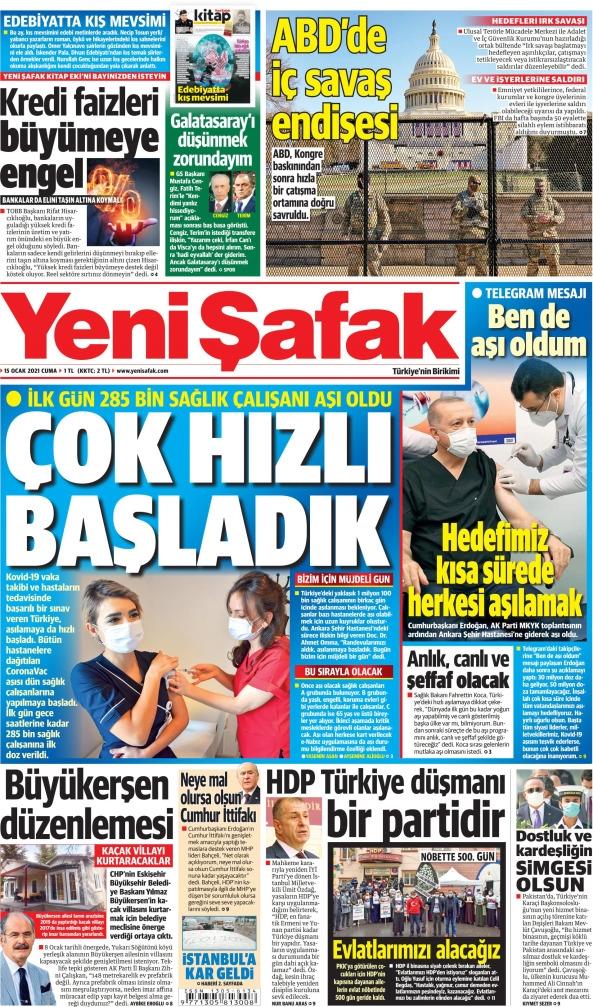 Günün Gazete Manşetleri 15 Ocak 2021 Gazeteler Ne Diyor? 1