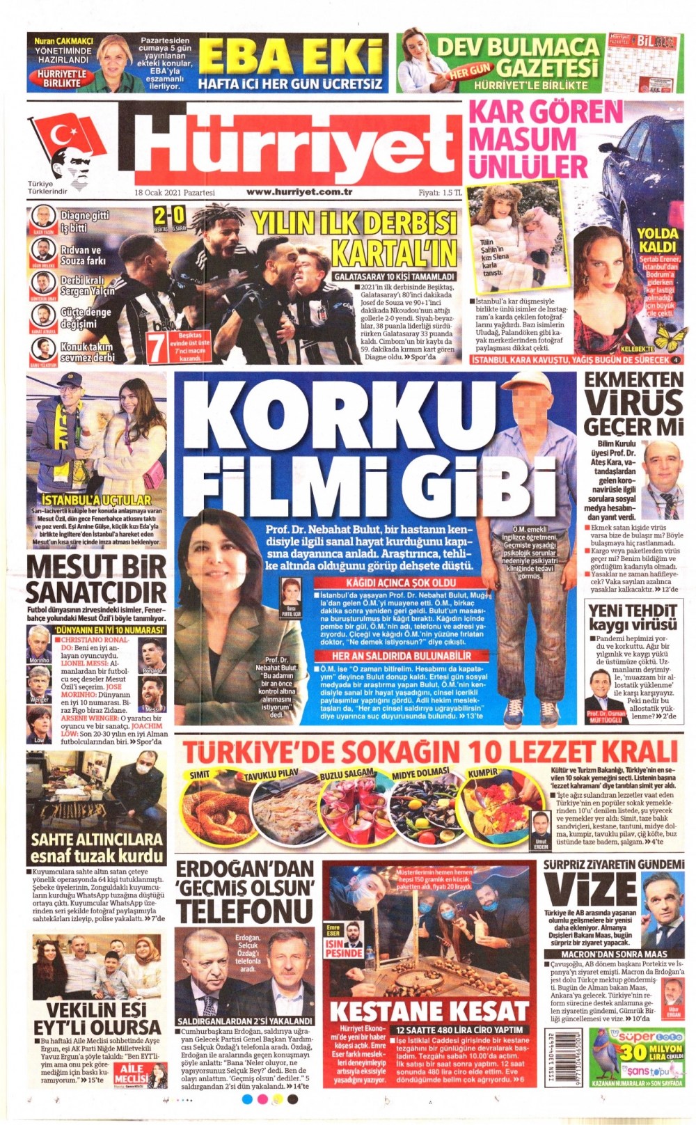 Günün Gazete Manşetleri 18 Ocak 2021 Gazeteler Ne Diyor? 1
