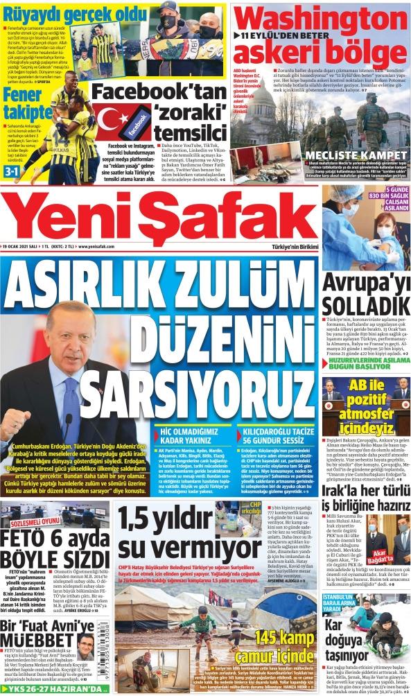 Günün Gazete Manşetleri 19 Ocak 2021 Gazeteler Ne Diyor? 1