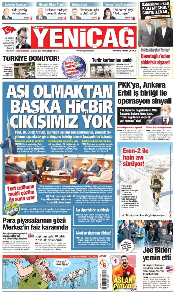 Günün Gazete Manşetleri 21 Ocak 2021 Gazeteler Ne Diyor? 1