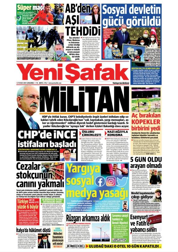 Günün Gazete Manşetleri 27 Ocak 2021 Gazeteler Ne Diyor? 1