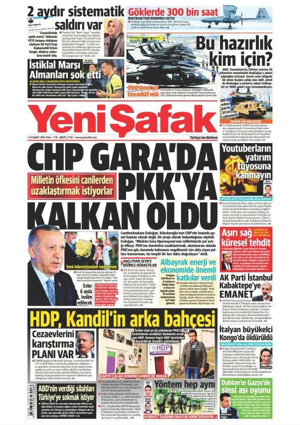 Günün Gazete Manşetleri 23 Şubat 2021 Gazeteler Ne Diyor? 1