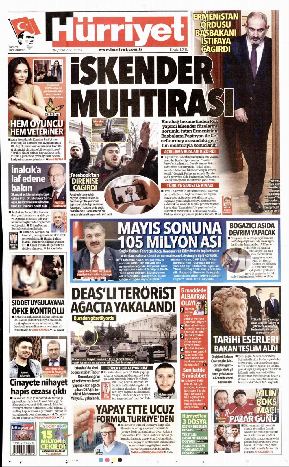 Günün Gazete Manşetleri 26 Şubat 2021 Gazeteler Ne Diyor? 1