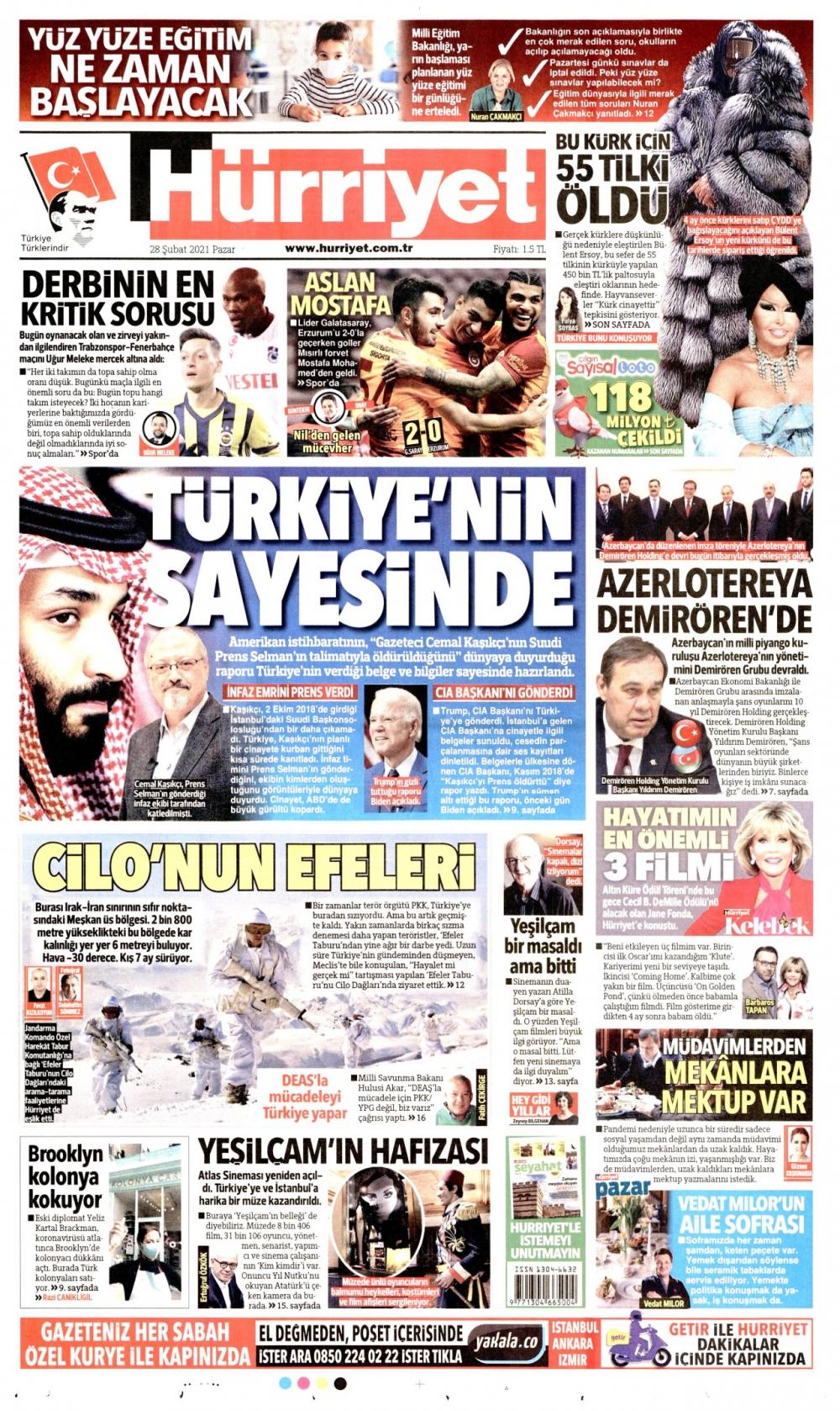 Günün Gazete Manşetleri 28 Şubat 2021 Gazeteler Ne Diyor? 1