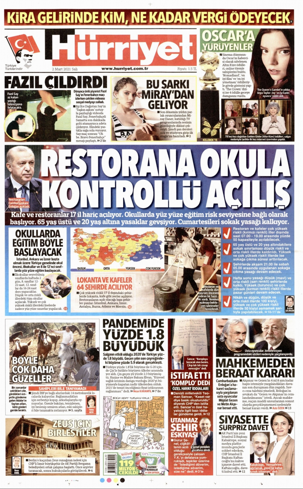 Günün Gazete Manşetleri 2 Mart 2021 Gazeteler Ne Diyor? 1