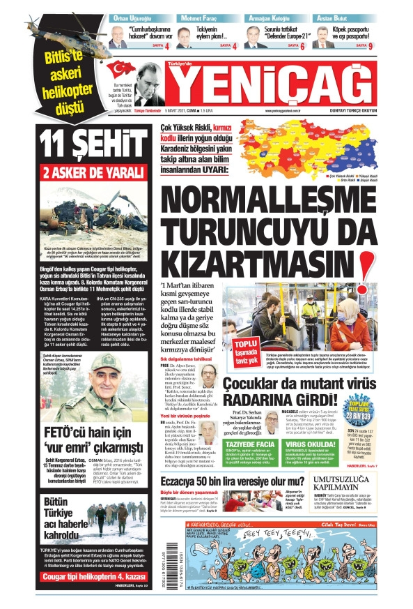 Günün Gazete Manşetleri 5 Mart 2021 Gazeteler Ne Diyor? 1