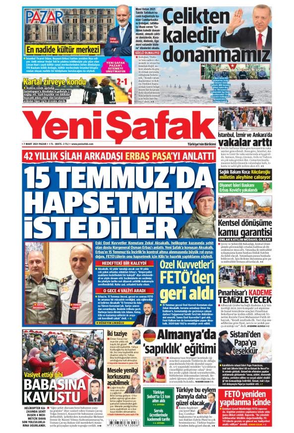 Günün Gazete Manşetleri 7 Mart 2021 Gazeteler Ne Diyor? 1