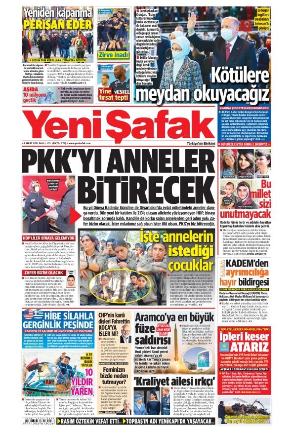 Günün Gazete Manşetleri 9 Mart 2021 Gazeteler Ne Diyor? 1
