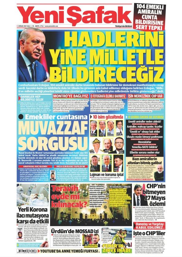 Günün Gazete Manşetleri 6 Nisan 2021 Gazeteler Ne Diyor? 1