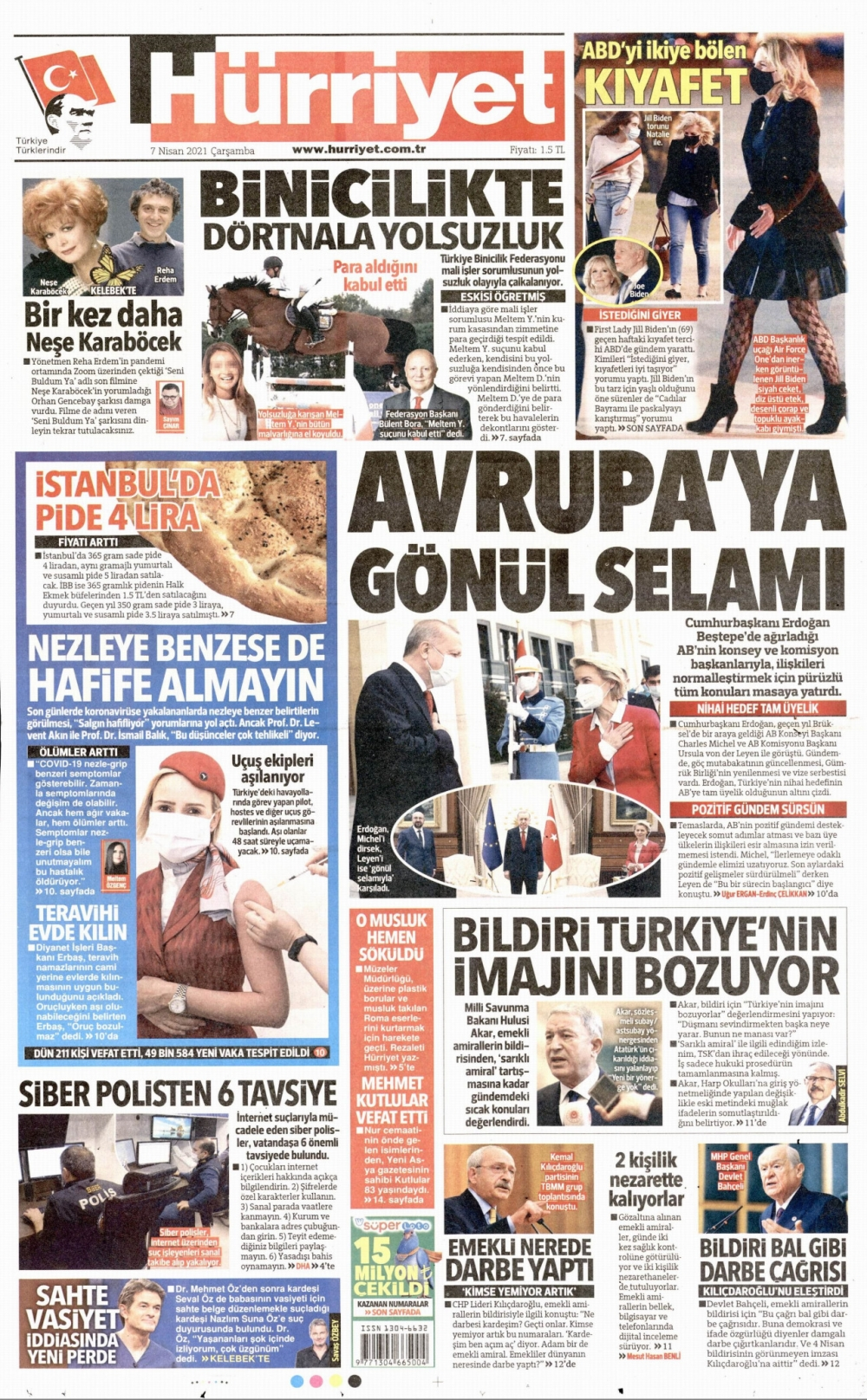 Günün Gazete Manşetleri 7 Nisan 2021 Gazeteler Ne Diyor? 1