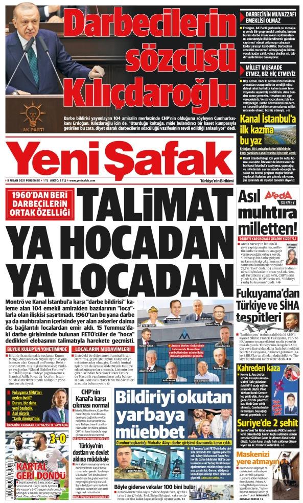 Günün Gazete Manşetleri 8 Nisan 2021 Gazeteler Ne Diyor? 1