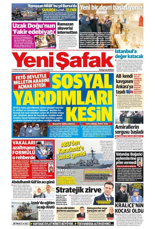 Günün Gazete Manşetleri 10 Nisan 2021 Gazeteler Ne Diyor? 1
