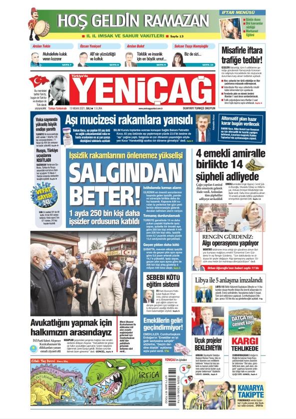 Günün Gazete Manşetleri 13 Nisan 2021 Gazeteler Ne Diyor? 1