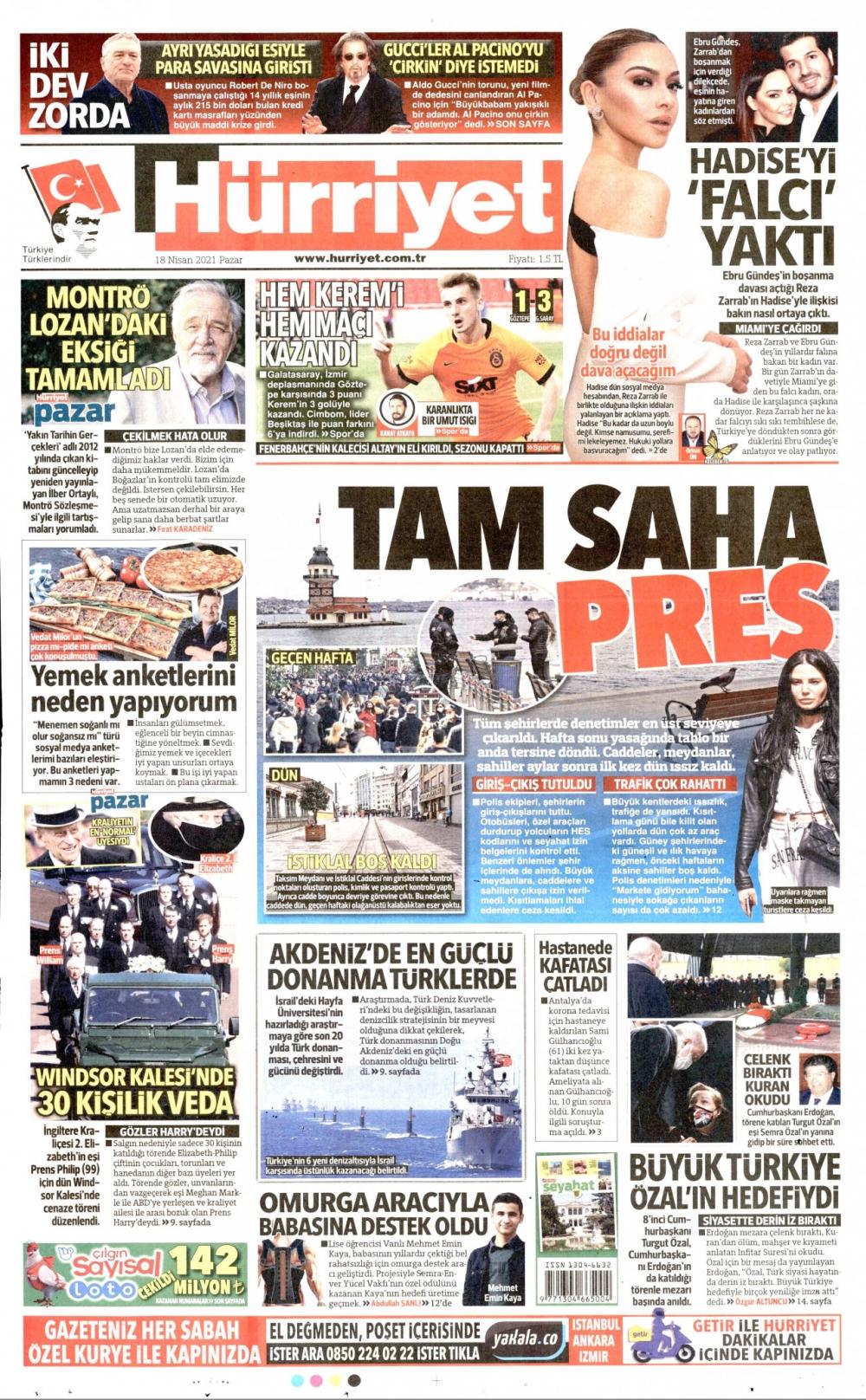 Günün Gazete Manşetleri 18 Nisan 2021 Gazeteler Ne Diyor? 1