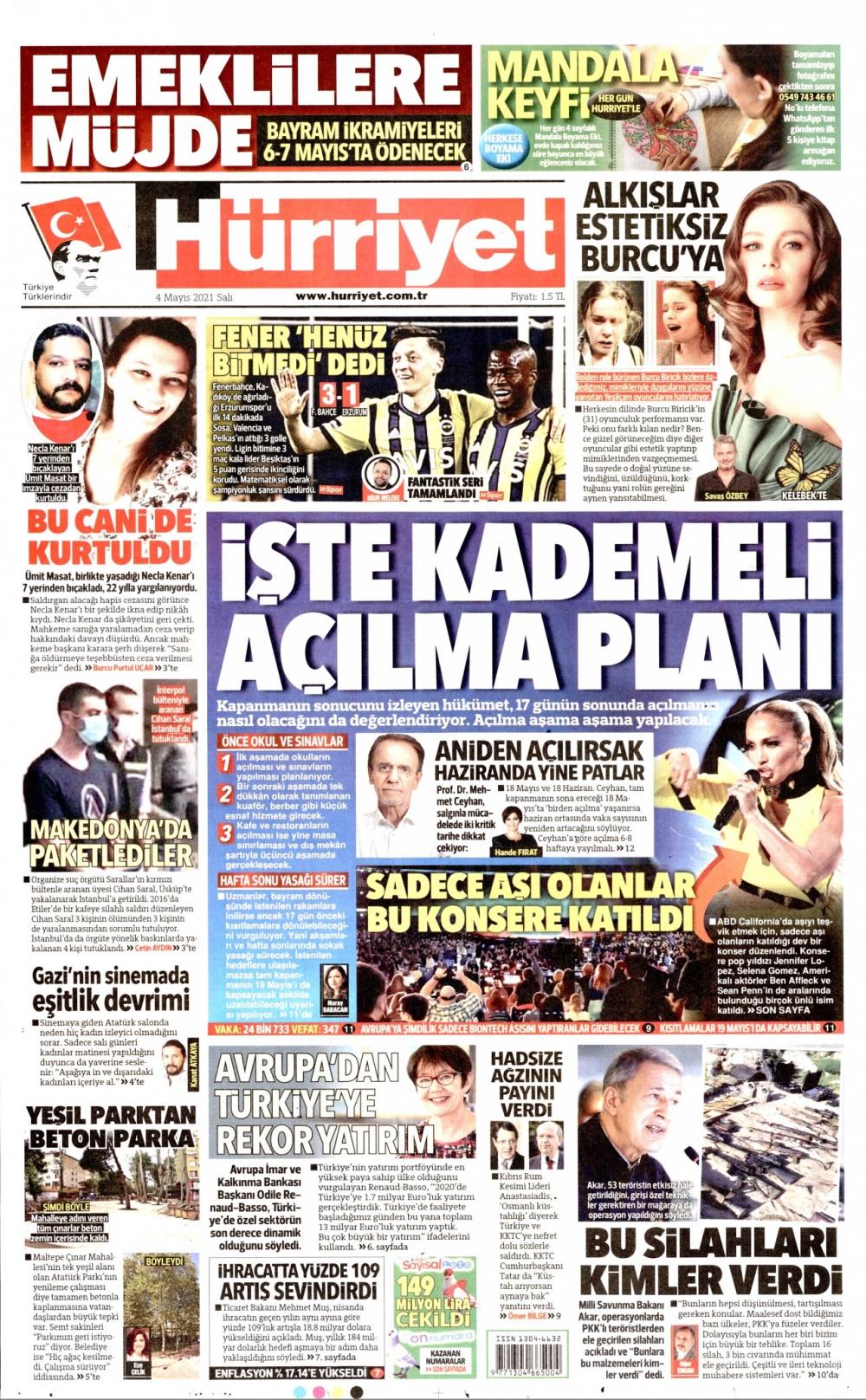 Günün Gazete Manşetleri 4 Mayıs 2021 Gazeteler Ne Diyor? 1