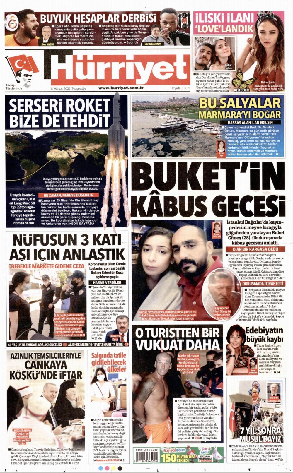 Günün Gazete Manşetleri 6 Mayıs 2021 Gazeteler Ne Diyor? 1