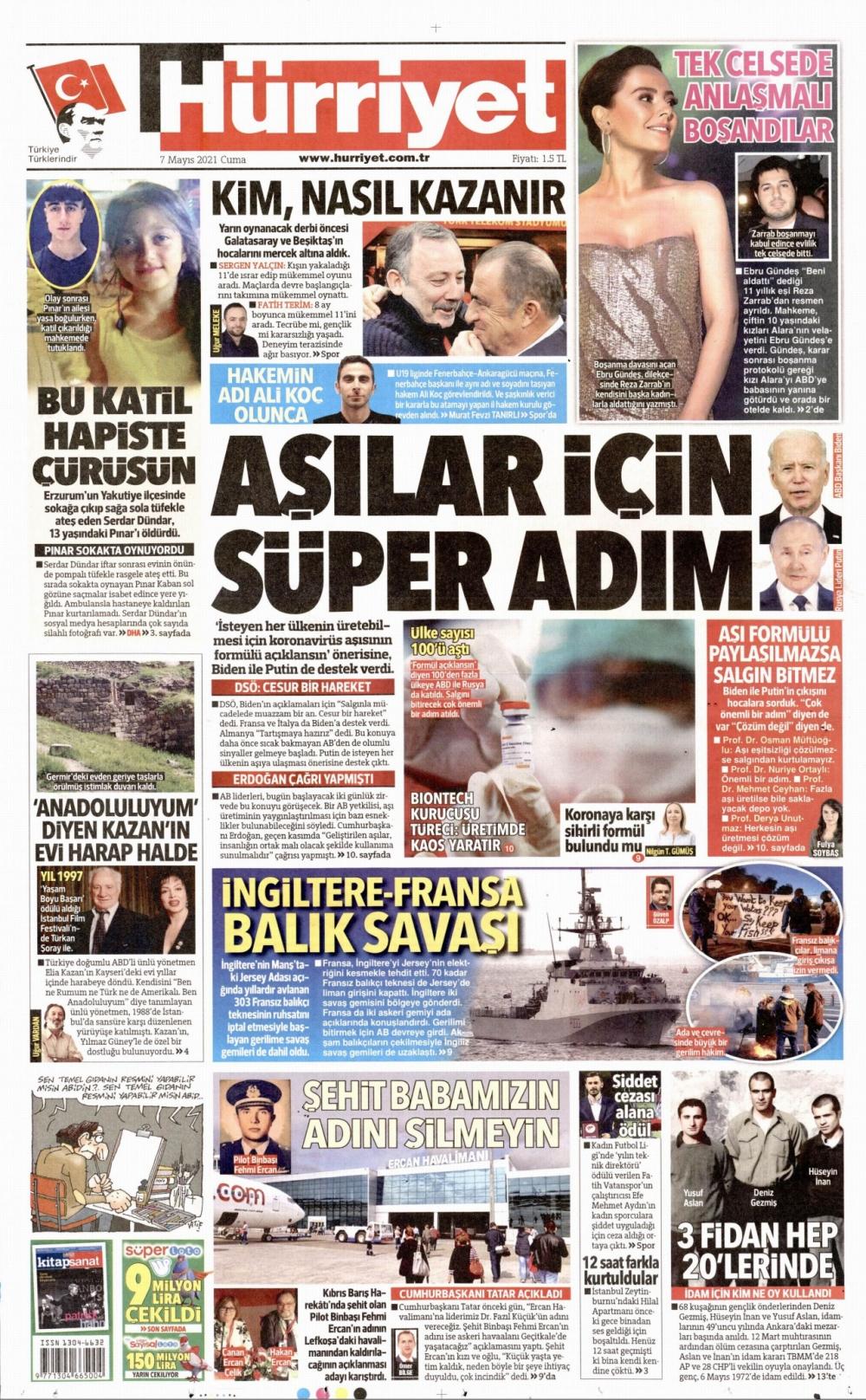 Günün Gazete Manşetleri 7 Mayıs 2021 Gazeteler Ne Diyor? 1