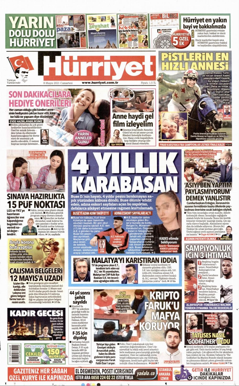 Günün Gazete Manşetleri 8 Mayıs 2021 Gazeteler Ne Diyor? 1