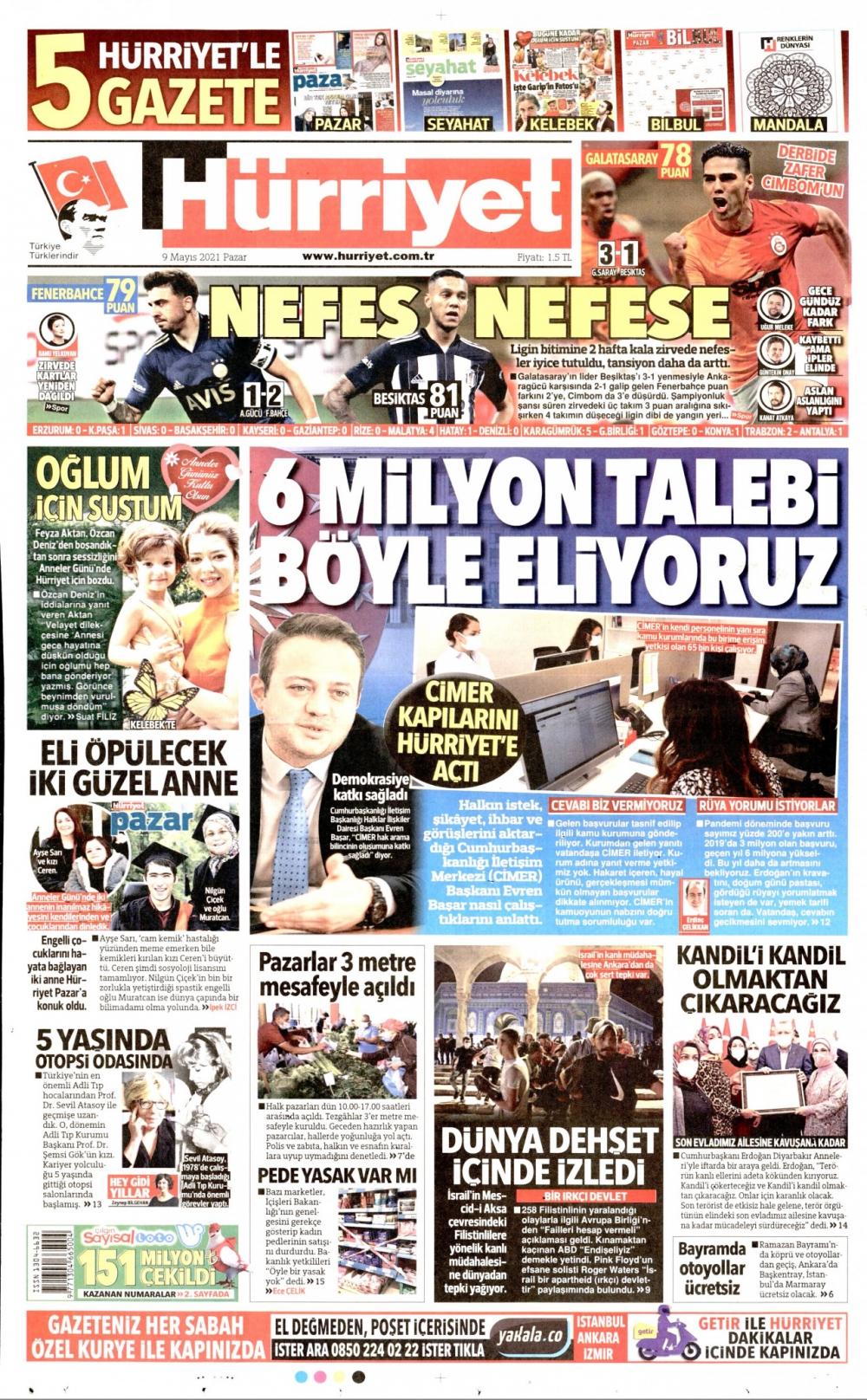 Günün Gazete Manşetleri 9 Mayıs 2021 Gazeteler Ne Diyor? 1