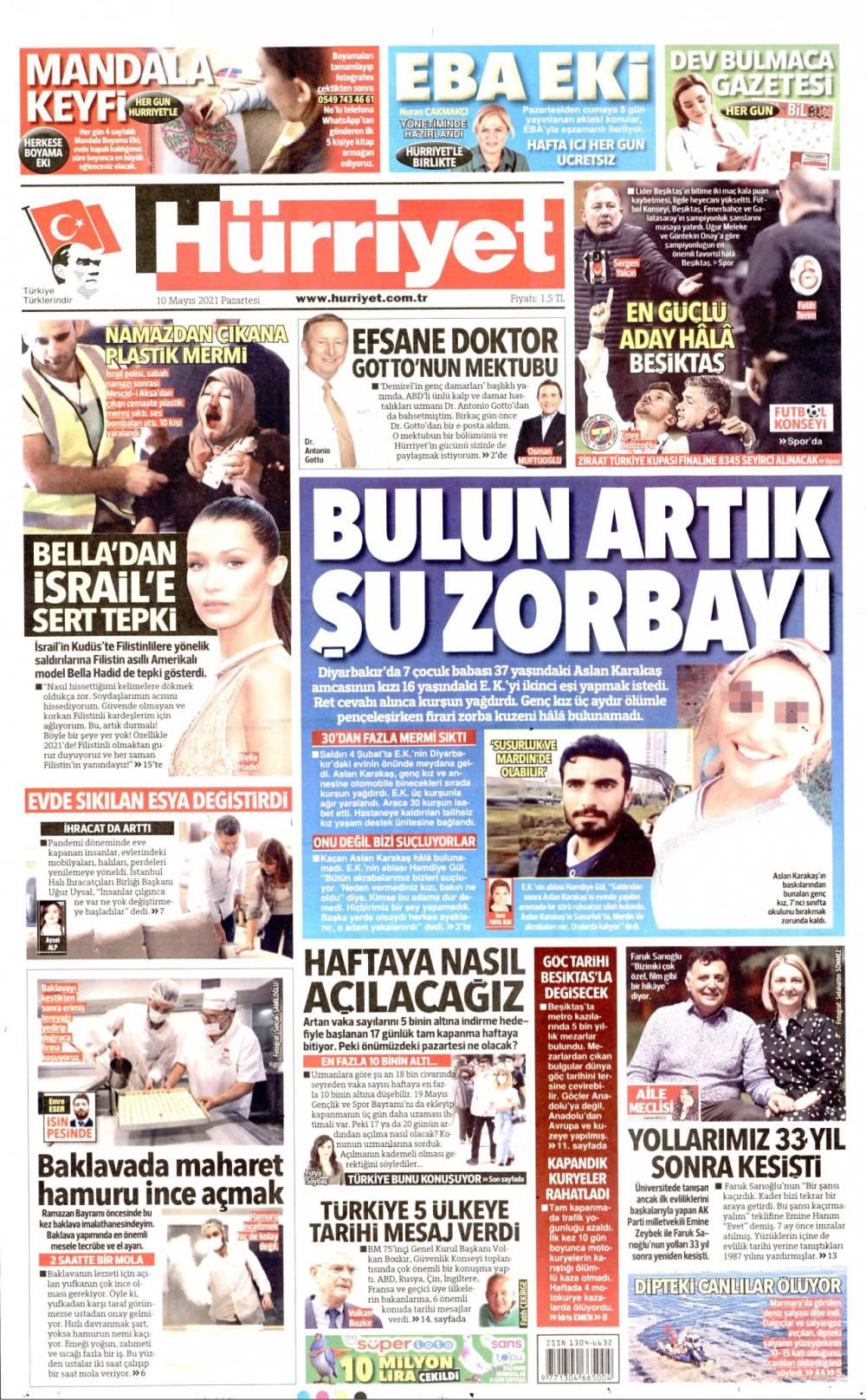 Günün Gazete Manşetleri 10 Mayıs 2021 Gazeteler Ne Diyor? 1