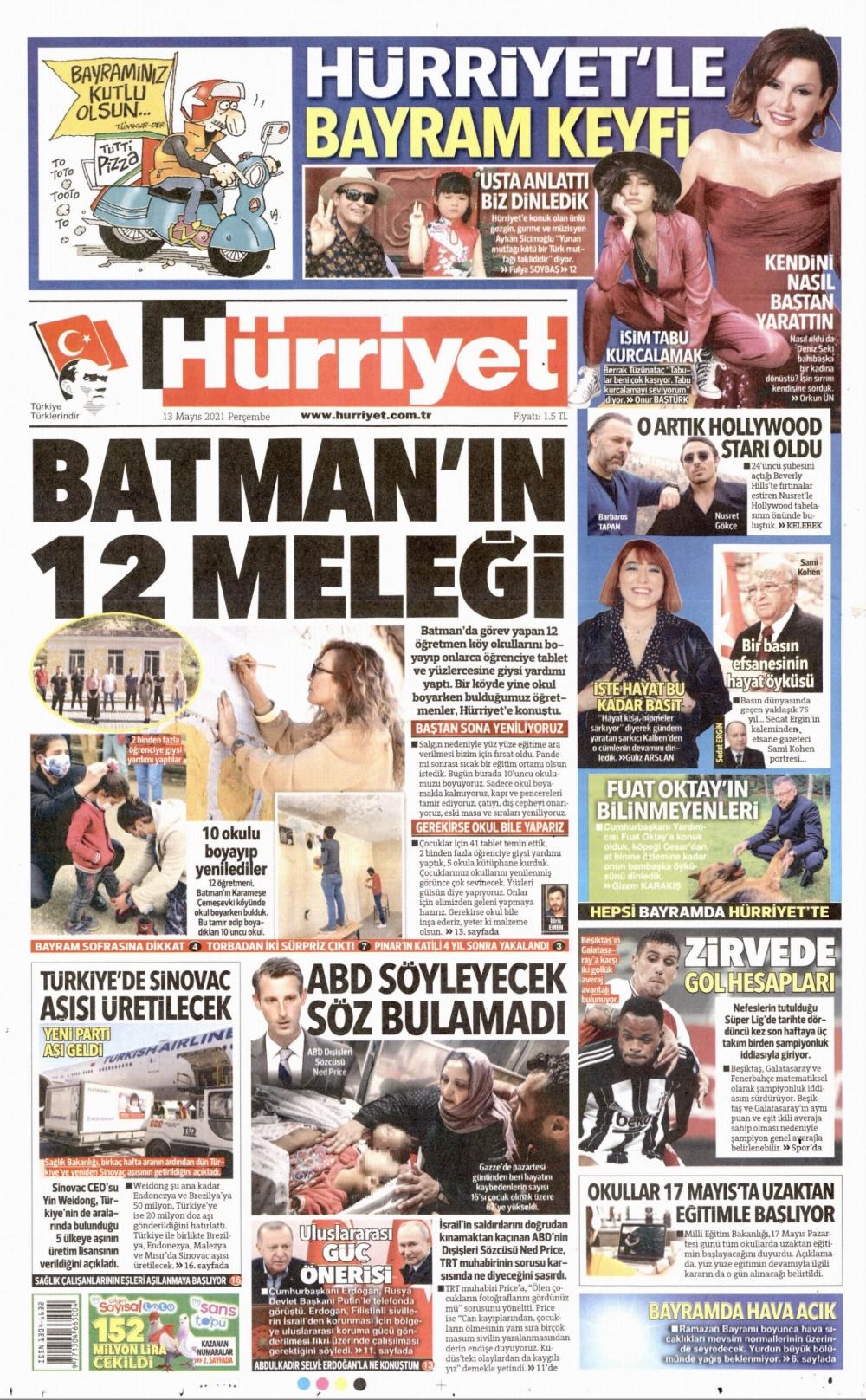 Günün Gazete Manşetleri 13 Mayıs 2021 Gazeteler Ne Diyor? 1