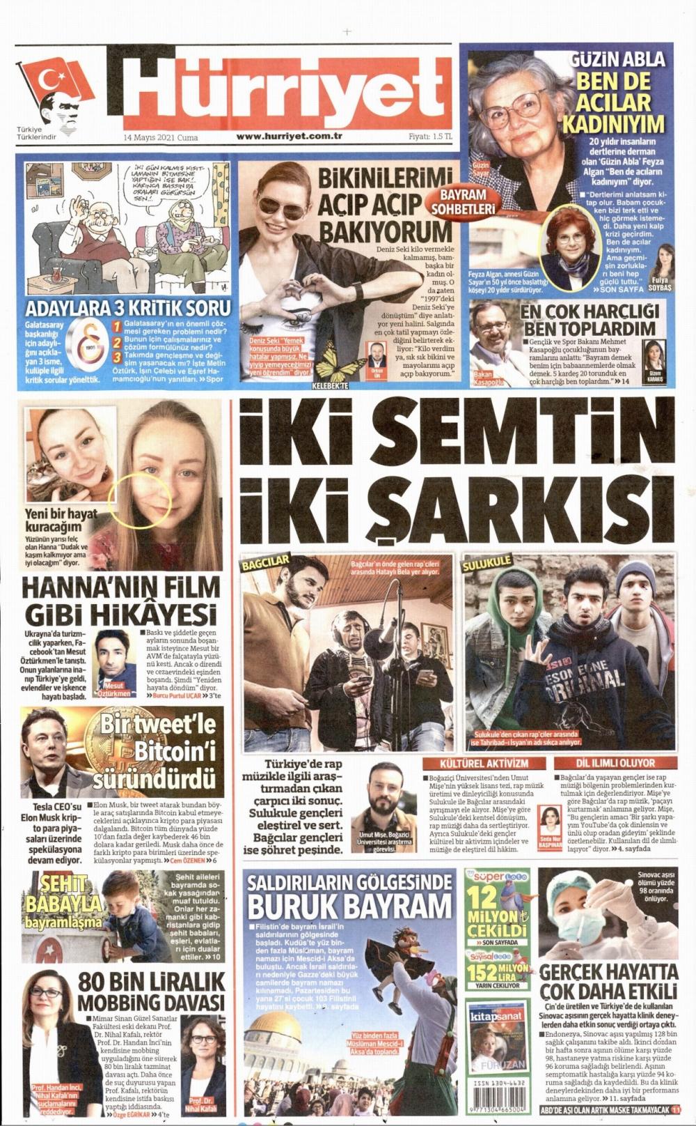 Günün Gazete Manşetleri 14 Mayıs 2021 Gazeteler Ne Diyor? 1