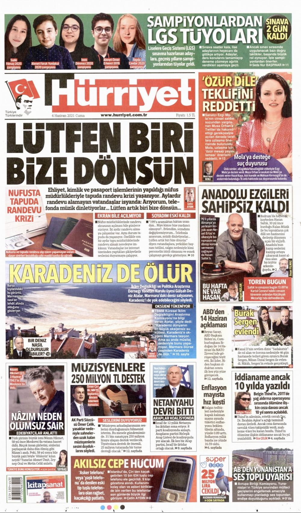 Günün Gazete Manşetleri  4 Haziran 2021 Gazeteler Ne Diyor? 1