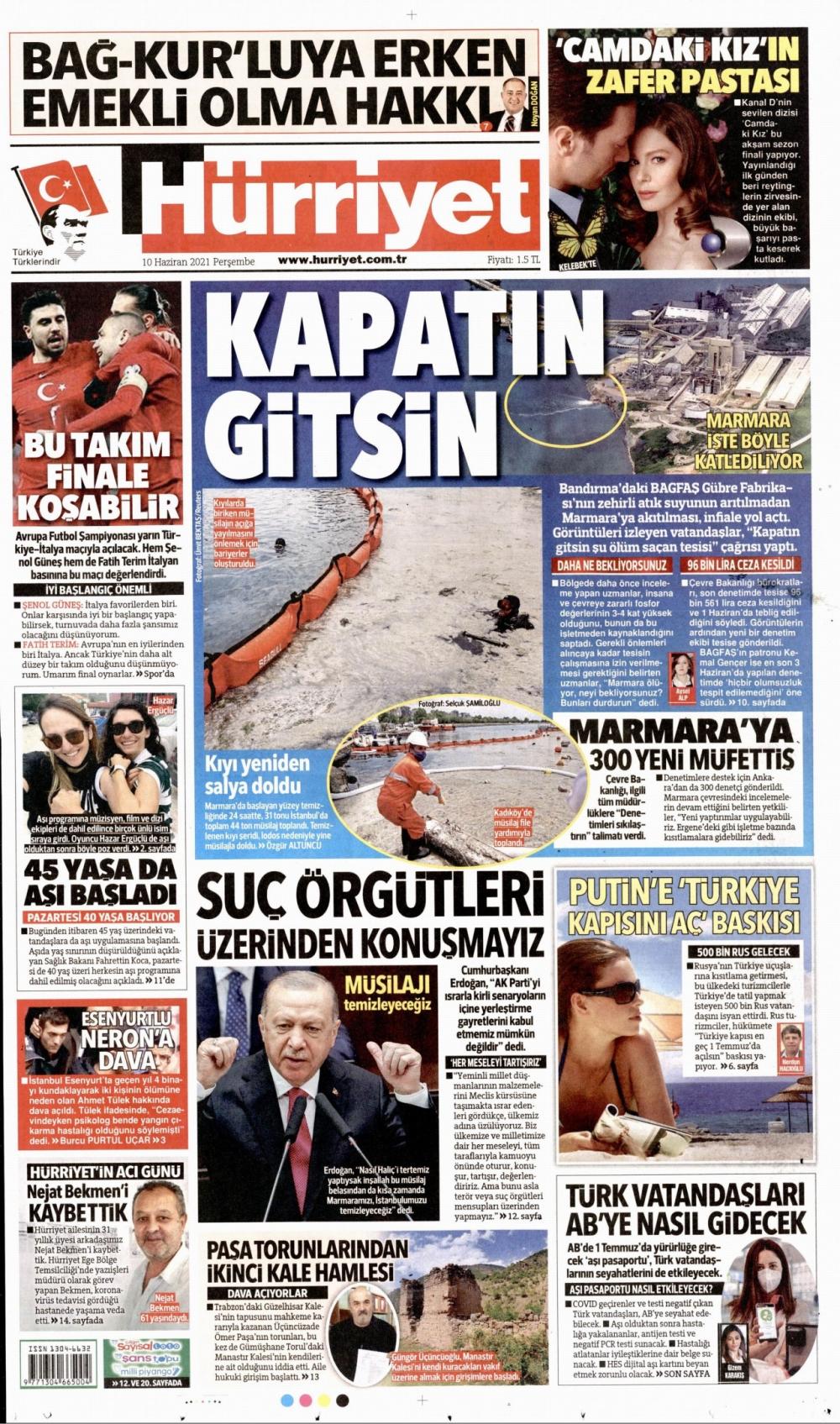 Günün Gazete Manşetleri 10 Haziran 2021 Gazeteler Ne Diyor? 1