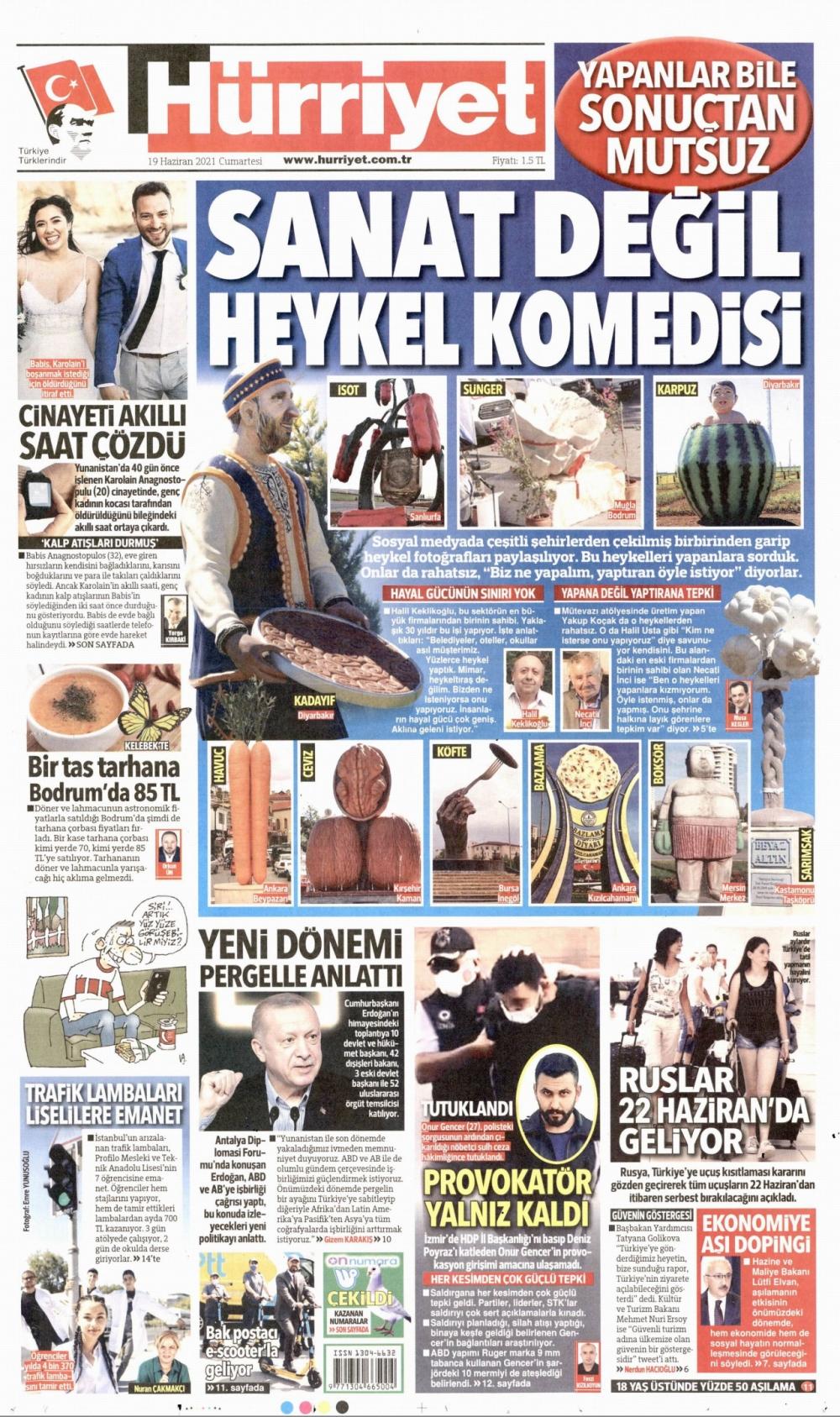 Günün Gazete Manşetleri 19 Haziran 2021 Gazeteler Ne Diyor? 1