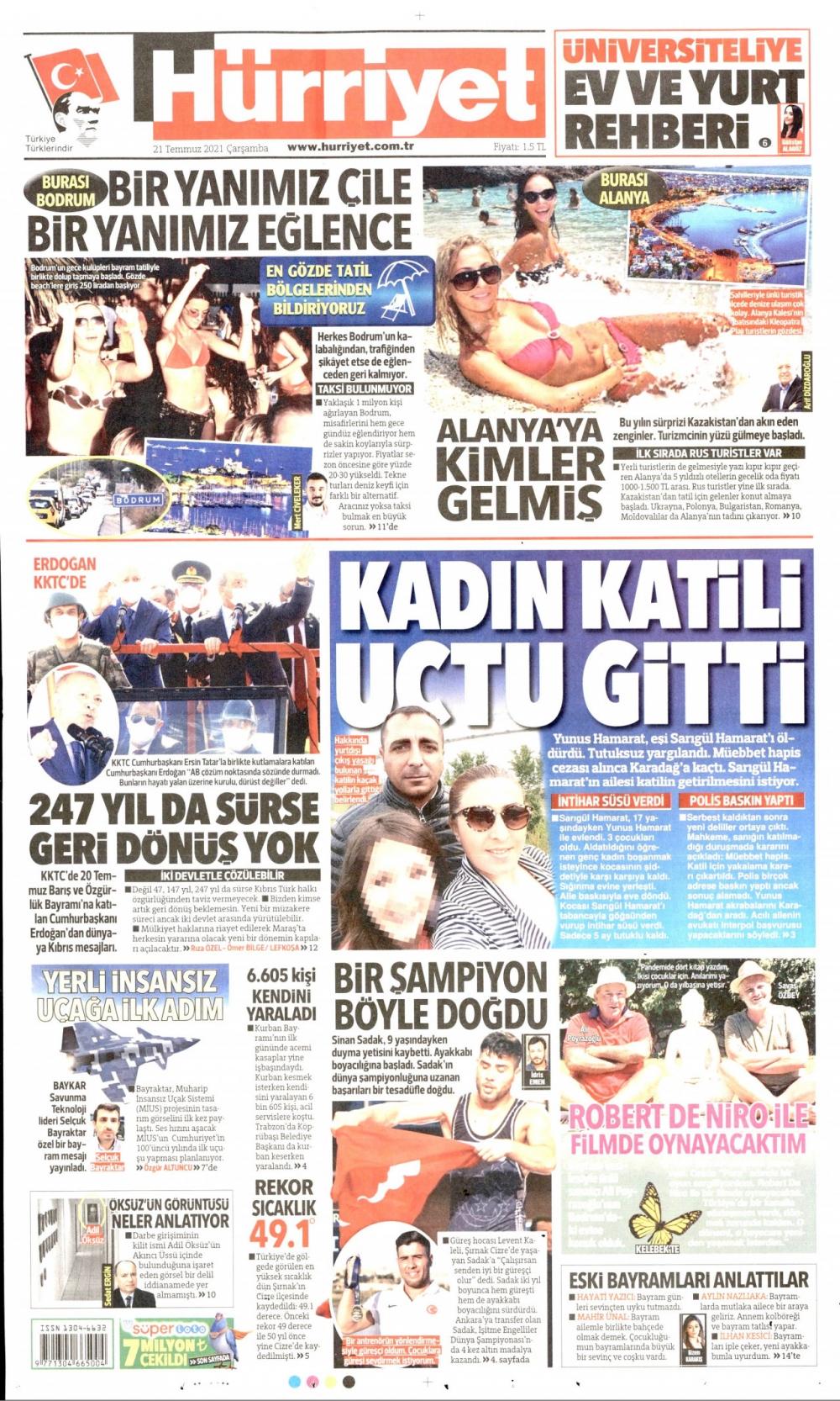 Günün Gazete Manşetleri 21 Temmuz 2021 Gazeteler Ne Diyor? 1