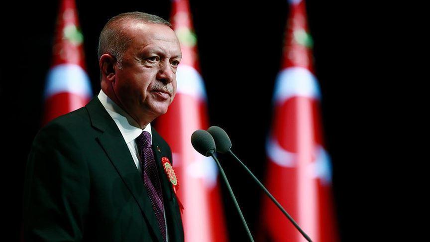 Erdoğan'dan şehit Kızılay personelinin ailesine başsağlığı mesajı