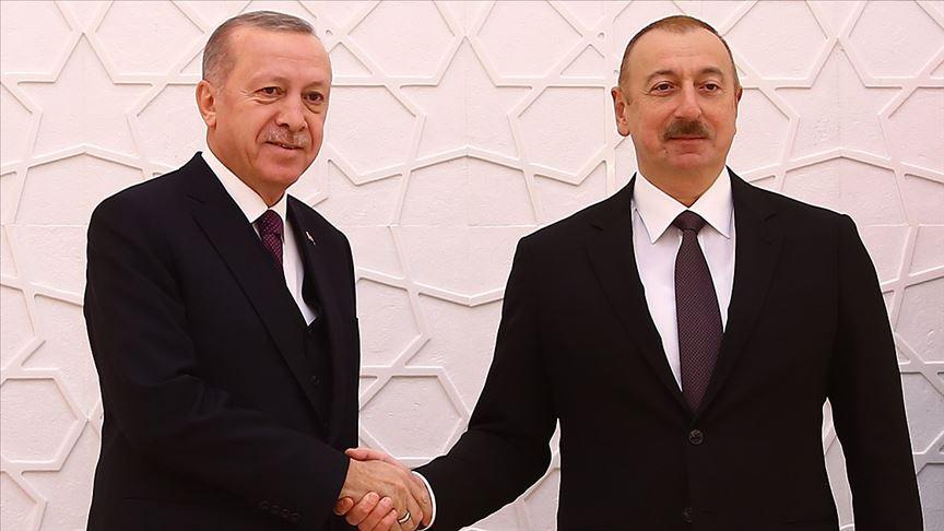 Erdoğan Azerbaycan Cumhurbaşkanı Aliyev ile telefonda görüştü