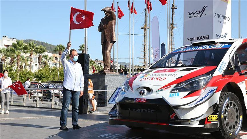 Türkiye Rallisi'nin startını Bakan Kasapoğlu verdi