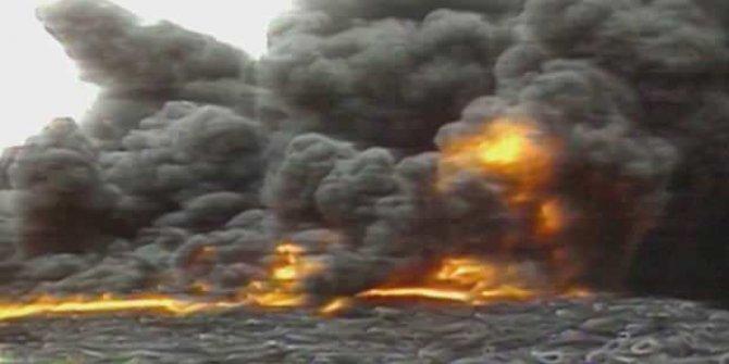 Yakılan araç lastiğinin gazından 6 kişi öldü