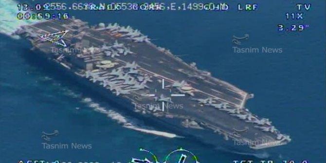 ABD'nin uçak gemisini vurmak için nişan aldılar