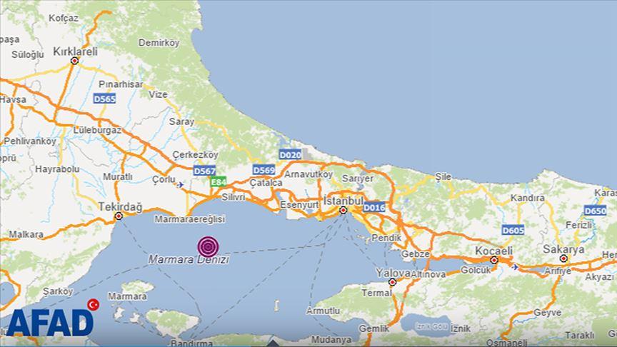 İstanbul'da 4.2 büyüklüğünde deprem meydana geldi