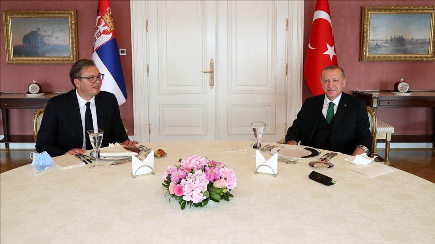 Erdoğan, Sırbistan Cumhurbaşkanı Aleksandar Vucic'i kabul etti