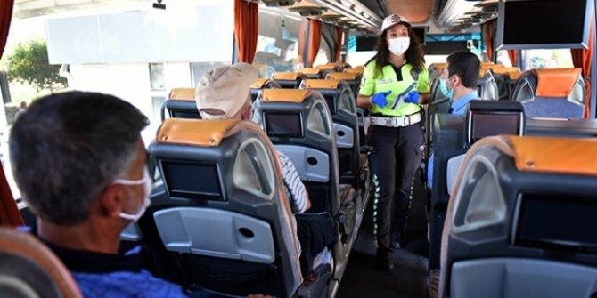 COVID-19 temaslı yolcu bulunan otobüs seferden men edildi