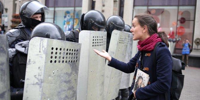 Belarus'taki protestolarda 150 kişi gözaltına alındı