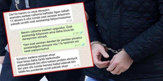 Mesajlar sonrası harekete geçildi! Tutuklandı