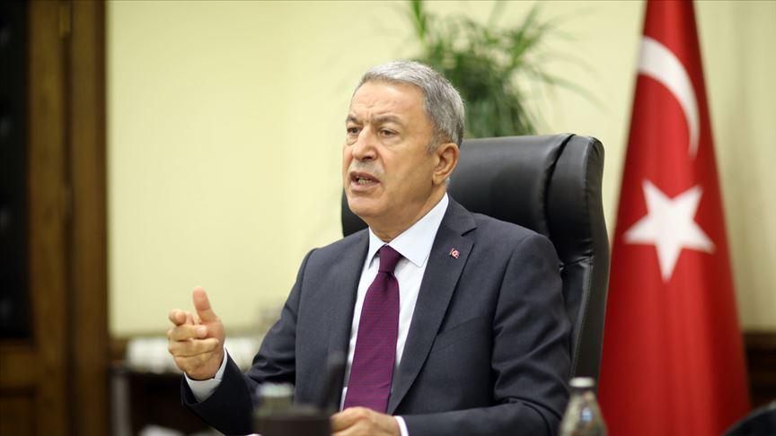 Milli Savunma Bakanı Akar: Azerbaycanlı kardeşlerimizin yanlarındayız
