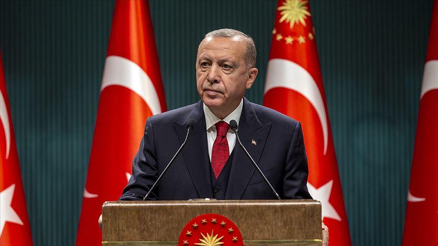 Cumhurbaşkanı Erdoğan, şehit ailesine başsağlığı diledi