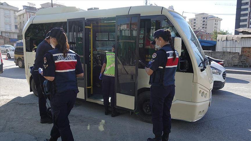 Jandarmadan İstanbul genelinde Kovid-19 denetimi