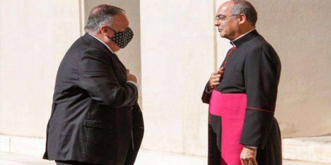 ABD Dışişleri Bakanı Pompeo Vatikan'da Papa ile görüşemedi
