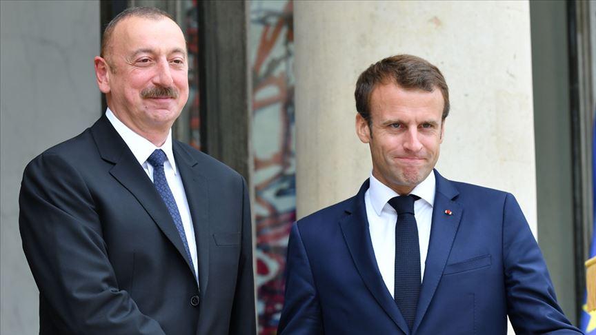 Aliyev ve Macron, Ermenistan-Azerbaycan cephe hattındaki çatışmaları görüştü