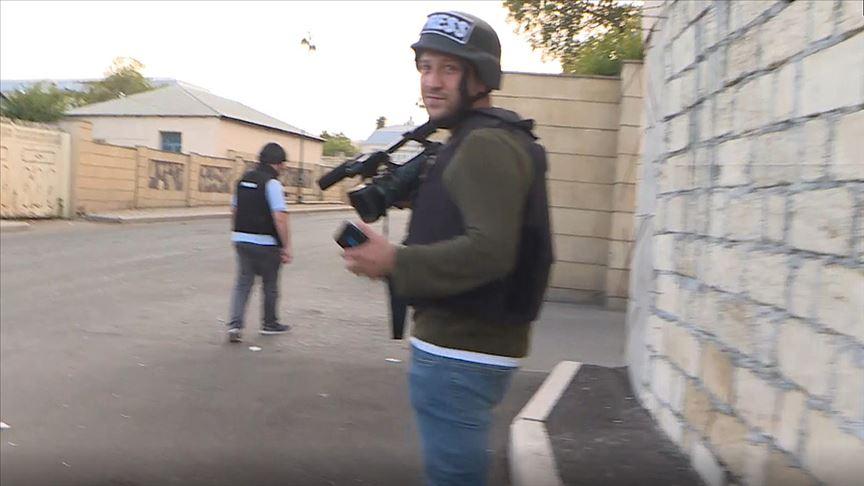 Ermenistan Türk gazetecilerin bulunduğu bölgeyi bombaladı