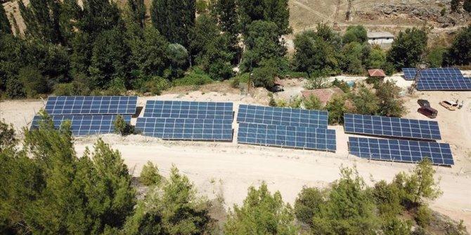 Uşak'ta köylülerin kurduğu güneş paneli su faturalarını azalttı