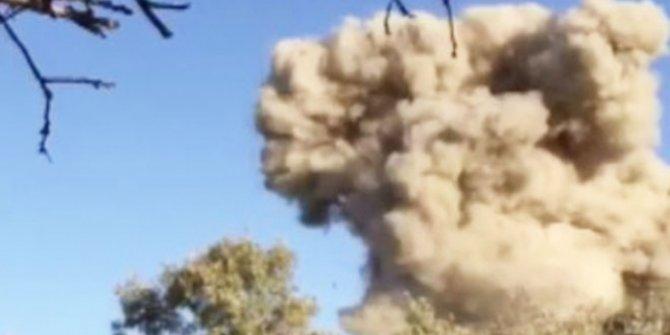 Teröristlerin kullandığı sığınakta bulunan patlayıcı imha edildi
